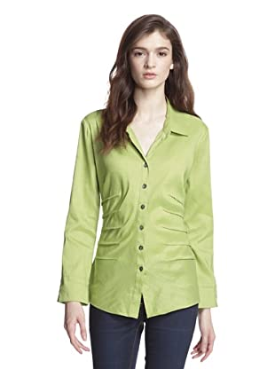 NIC+ZOE Women's Shirt Jacket with Tucking Detail (Appletini)