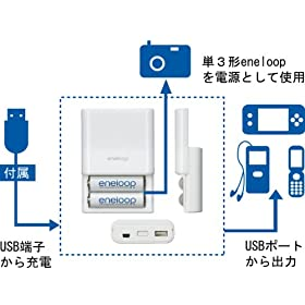 三洋電機 USB出力付き充電器セット KBC-E1S KBC-E1S