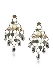 Lionette Designs by Noa Sade Black Samba Dancing Mesh Earrings