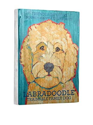 Ursula Dodge Labradoodle Reclaimed Wood Portrait