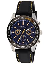 Titan Octane Multi-Function Chronograph Blue Dial Men's Watch - 9491KP01J