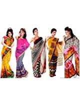 Vardhaman Goodwill Faux Georgette Saree (Vgcombo1 _Multi Color)