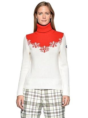 Fusalp Aiguille Cashmere Jersey (Blanco/Rojo)