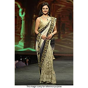 Rashmi Desai In Half And Half Bollywood Replica Saree VF-285