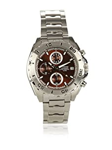 J Springs by Seiko Men's Chronograph Silver/Brown Stainless Steel Watch