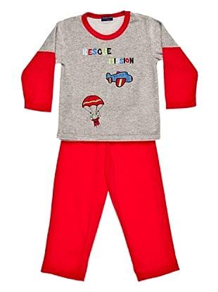 Blue Dreams Pijama Infantil Niño Terciopelado (Rojo)