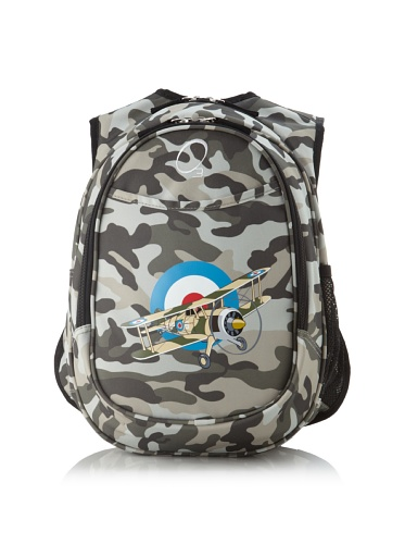O3 Kid's All-in-One Backpack with Integrated Cooler (Camo Airplane)