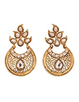 Touchstone antique gold plated designer earrings DGET-518-01AK-G 01