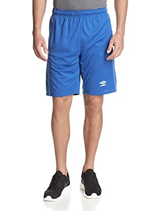 Umbro Men's Knit Active Short with Contrast Overlook (Italy Royal Blue)