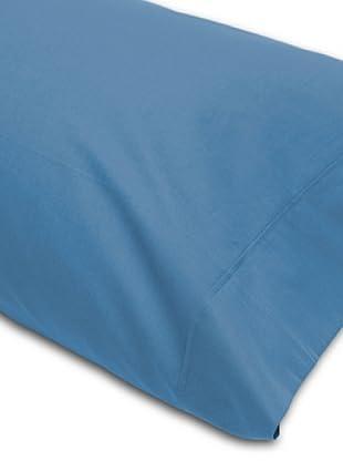 Abecé Funda de almohada Lisa (Azul Humo)