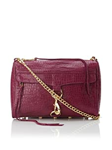 Rebecca Minkoff Women's Mac Secure Lock Shoulder Bag, Fuchsia