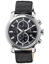 Titan GCLSQ Multi-Function Chronograph Black Dial Men's Watch - 9486SL01J