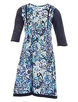 Pure Nautanki Women's Cotton V-Neck Kurti (Sk-2289_L, Blue, L)