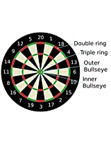 Looks Double Sided Dart Board Game Quality As Per International Standard With 6 Darts 6 Arrows Size 16 Inch
