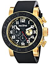 red line Men's RL-50052-YG-01 Xlerator Analog Display Japanese Quartz Black Watch