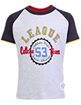 Ollypop Half Sleeves T-Shirt Grey - College Team Patch