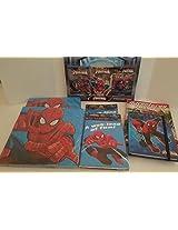 Marvel Ultimate Spider Man Invitations 8 (Ct) 2 Pks, Napkins 16 (Ct) 2 Pks, , Favor Bags 8 (Ct) 3 Pks, Masks 8 (Ct) 3 Pks, 1 Diary, 1 Triple Threat Comic Book & 3 Pack 8 (Ct) Crayons