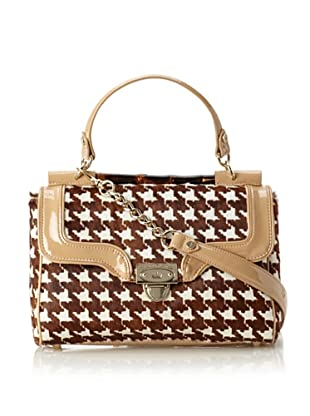 Elaine Turner Women's Phoebe Cross-Body with Top Handle, Houndstooth Haircalf