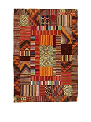 Eden Teppich Kilim Patch Work rot/mehrfarbig 207 x 300 cm