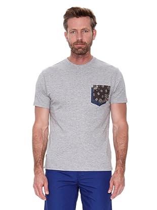 Cortefiel Camiseta Bolsillo (Gris)