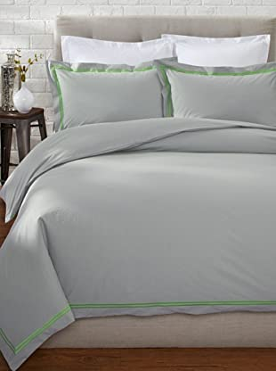 Mason Street Textiles Two Cord Duvet Set (Steel/Neon Green)