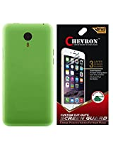 Chevron Back Cover Case for Meizu MX5 with HD Screen Guard (Charm Green)