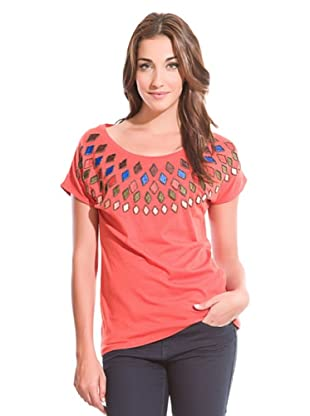 Springfield Camiseta Rombos (Coral)