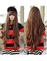 New Brown Godiva Super Long Lolita Full Natural Wavy Kanekalon Heat Resistant Hair Wig