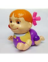 Baby Naughty Musical Crawling Girl Toy (Color May Vary)