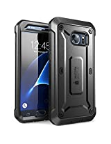 SUPCASE Cell Phone Case for Samsung Galaxy S7 - Retail Packaging - Black/Black