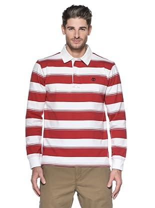 Timberland Polo Rugby (Blanco / Rojo)