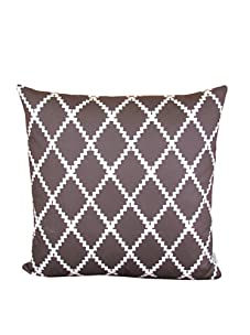 """Lacefield Designs Ric Rac 20"""" x 20"""" Pillow, Brown/White"""
