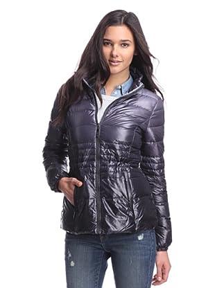Kensie Women's Packable Down Jacket (Charcoal Ombre)