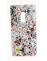 Protective Printed Back cover for One Plus Two ( 1+ 2 ). Print Collection: Alphabet