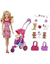 Barbie Adorable Pets Doll, Multi Color