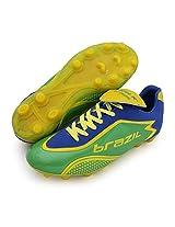 Vector X Brazil ll 001 Football Shoes, Men's UK 11 (Green/Blue)
