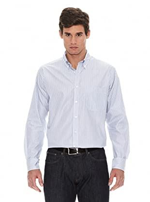 Turrau Camisa Raya Media / Doble Bicolor (Gris / Azul)