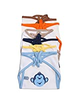 Bio Kid Eco Tie Nappies, Multi Color, 6 Pcs Pack, 0-6 Months