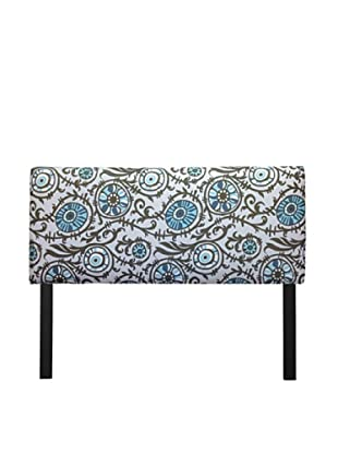Sole Designs Upholstered Suzani Headboard (Blue/Grey)
