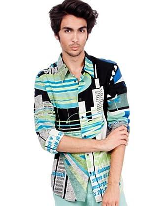 Custo Hemd (Schwarz/Blau)