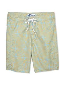 Trunks Men's Saltie Boardshorts (Trippy Yellow/Teal)