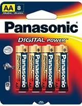 Panasonic Digital Power AA Alkaline Batteries - 8 Pack