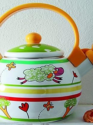 Tognana  Wasserkessel Gourmet Ia Ia Oh 2 Lt grün/mehrfarbig