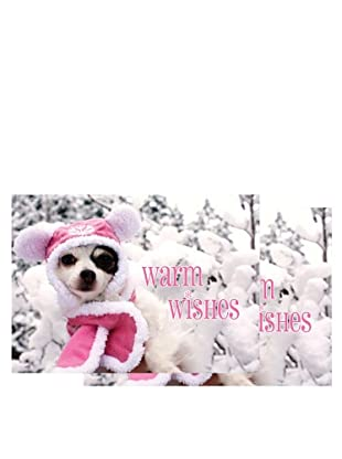 Nouvelles Images Pinta in Pink Coat 2-Pack Greeting Cards