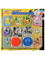 Pokemon Monster Collection Black White Starter Figure Bundle Set Takara Tomy BW