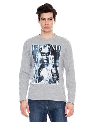 Legend & Soul Camiseta Print (Gris Claro)
