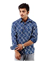 Albelishop Men's Button Front Shirt (FI006_XXL, Multi-Colour, XXL)