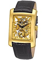 Stuhrling Original Men's 144C2.333531 Classic Gatsby Skeleton Mechanical Leather Watch