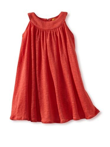 Zolima Girl's Swing Dress (Papaya Red)