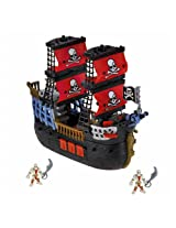 Fisher Price Imaginext Pirate Ship with Pirate Figurines - Black | W9596